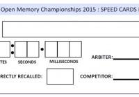 速記撲克牌項目說明與計分方式